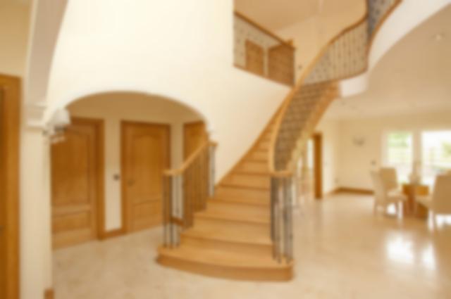 Oak Stair with Metal Balustrade